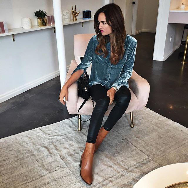 velvet and coated jeans | Velvet | Fashion, Velvet tops, Fashion .