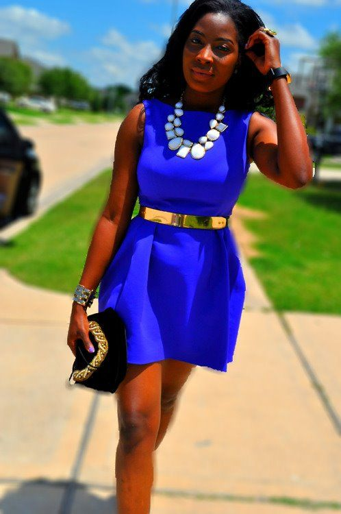 i'm obsessed with cobalt blue and this dress! | Fashion, Style .