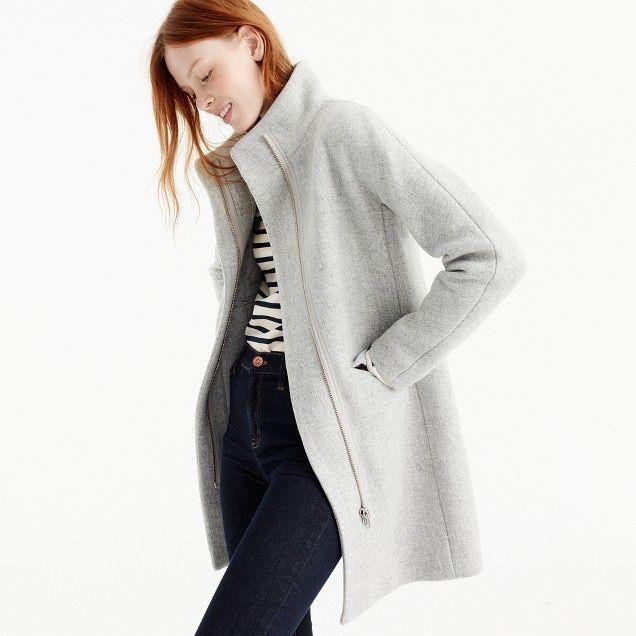 Italian stadium-cloth wool cocoon coat : Women wool | J.Crew $300 .