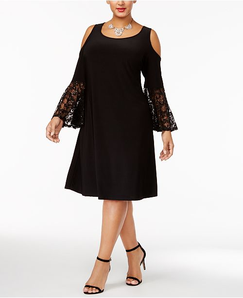 R & M Richards Plus Size Cold-Shoulder Dress & Reviews - Dresses .