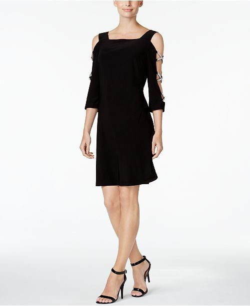 MSK Embellished Cold-Shoulder Cocktail Dress & Reviews - Dresses .