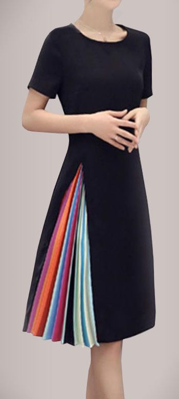 Rainbow Color Block Dress | Nice dresses, Dresses, Game dress