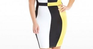Plus Size Marigold Color Block Dress | Fashion To Figure | Outfit .