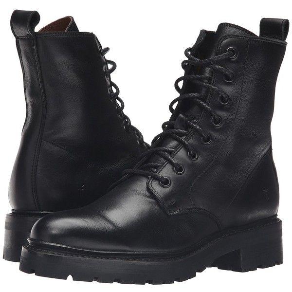 Frye Julie Combat (Black Soft Full Grain) Women's Boots ($378 .