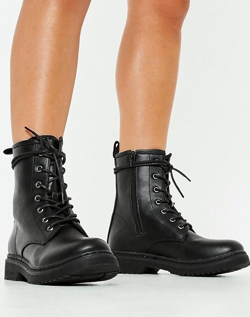 Black Lace Up Combat Boots for Women - Once again the military .