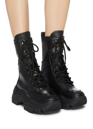 PRADA | Chunky outsole leather combat boots | Women | Lane Crawfo