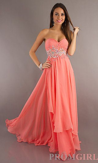 coral prom dress. ABSOLUTELY love :) Coral Dresses #2dayslook .