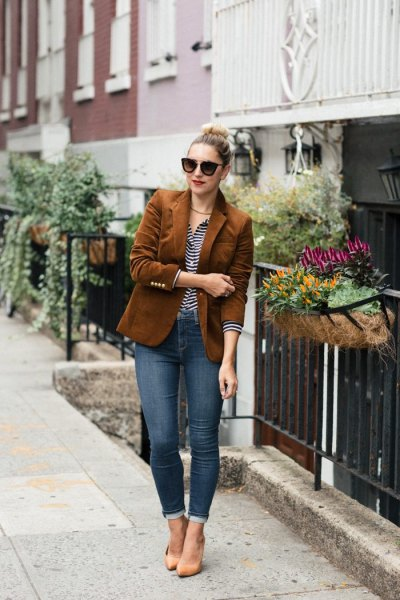 How to Style Corduroy Blazer: 15 Attractive Outfit Ideas for .