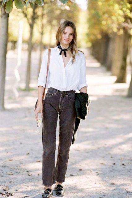 20 Stylish Outfits With Corduroy Pants - Styleohol