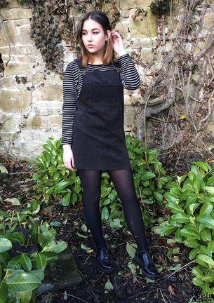 Corduroy Overall Dress -SheIn(Sheinside) | Corduroy overall dress .