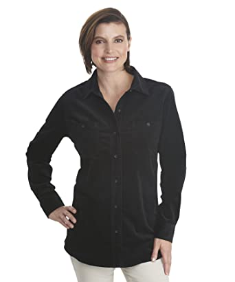 Woolrich Women's Stretch Cotton Corduroy Shirt at Amazon Women's .