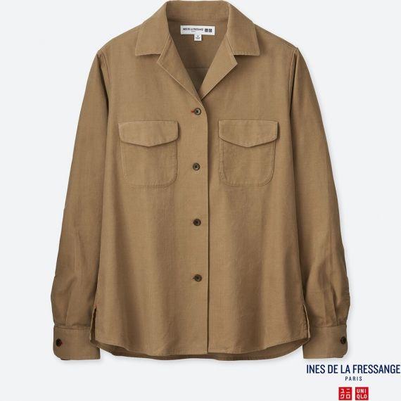 WOMEN IDLF Corduroy Long Sleeve Shirt | UNIQ