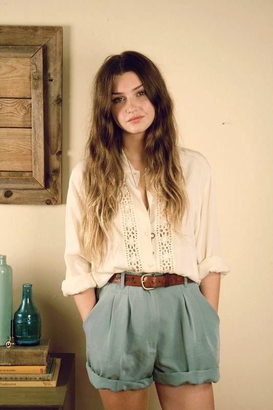 Cotton fabric vintage top & cotton Shorts | Boho chic style .