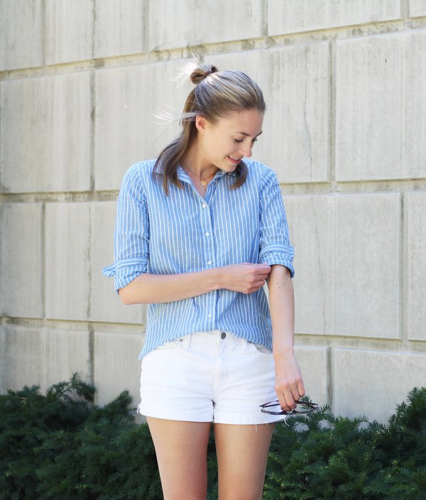How to Style Cotton Shorts: Best 15 Lovely Outfit Ideas for Women .