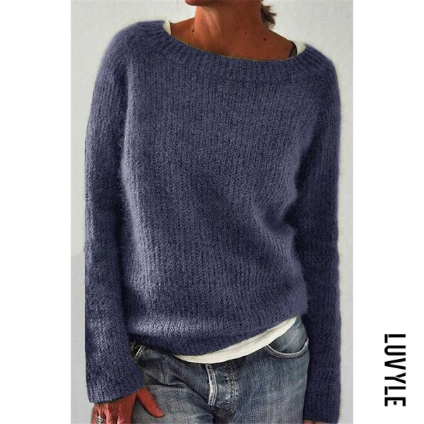 Casual Round Neck Long Sleeve Loose Sweater in 2020 | Pullover .
