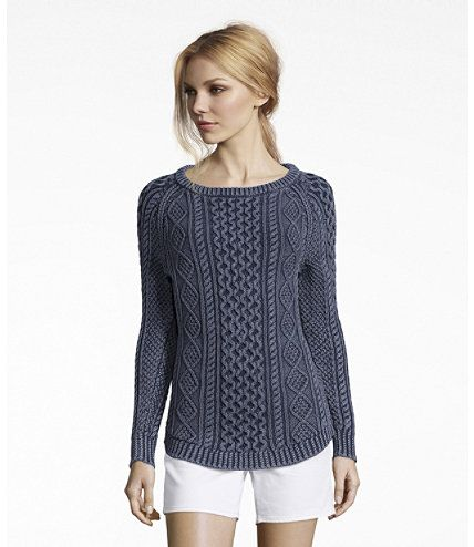 Women's Signature Cotton Fisherman Tunic Sweater, Washed | Free .