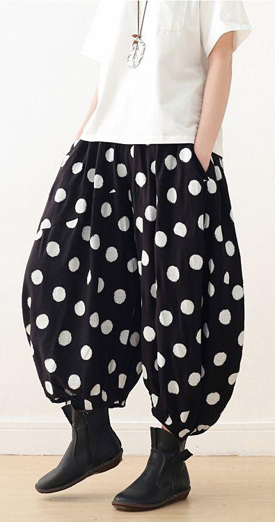 Women wide leg pants Cotton tunic pattern Fun Fashion Ideas black .