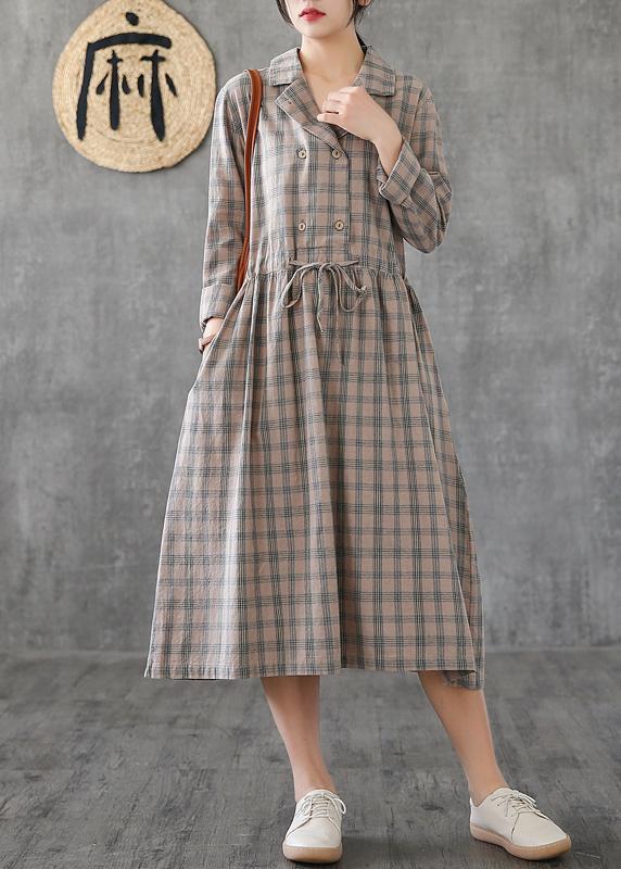 Women Notched drawstring linen cotton Tunics Fashion Ideas green .