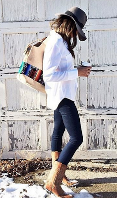 50 cute outfits to wear with cowboy boots | Fashion, Style, Winter .