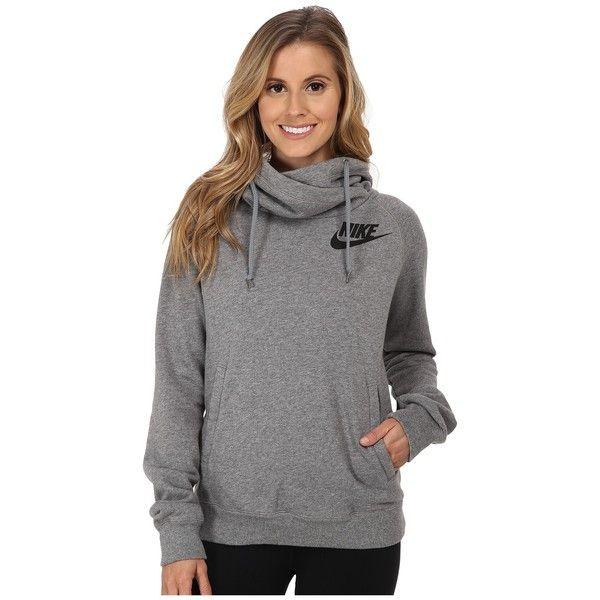 Nike Rally Funnel Neck Hoodie Women's Sweatshirt ($65) ❤ liked on .