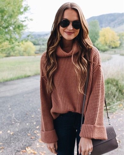 favorite cowl neck sweater for fall | Fashion, Winter outfits wom