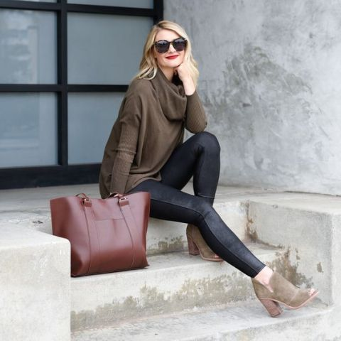 22 Cowl Neck Sweater Outfits For Fashionable Ladies - Styleohol
