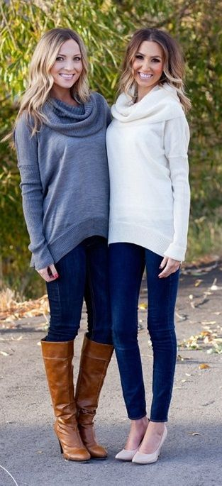 Lux Cowl Neck Sweaters | Fashion, My style, Fall winter outfi