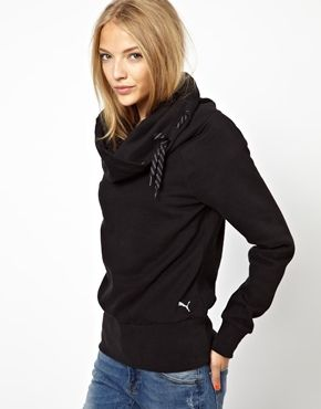 Puma Sweatshirt With Cowl Neck | Puma sweatshirts, Sweatshirt .