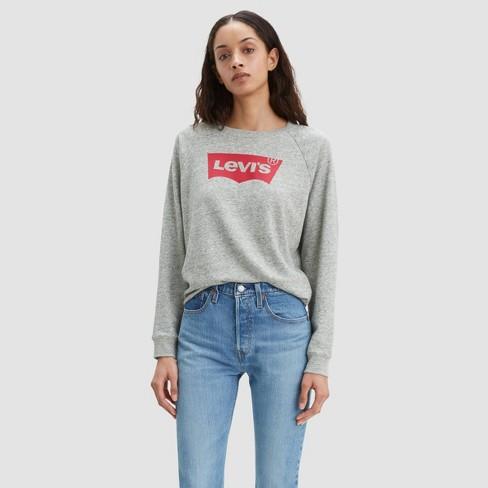 Levi's® Women's Relaxed Graphic Crewneck Sweatshirt - Smokestack .