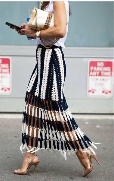 Crochet Dress Full Pattern and Tutorial | Crochet skirt outfit .