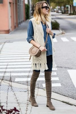 How to Style Crochet Fringe Vest: 15 Best Outfit Ideas - FMag.c