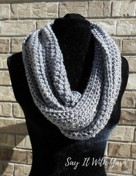 Mobius Dream Cowl Crochet Infinity Scarf Crochet by sayitwithyarn .