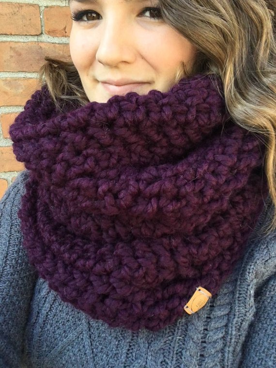 Northern Woods Oversized Crochet Cowl // Hooded Cowl // Chunky .