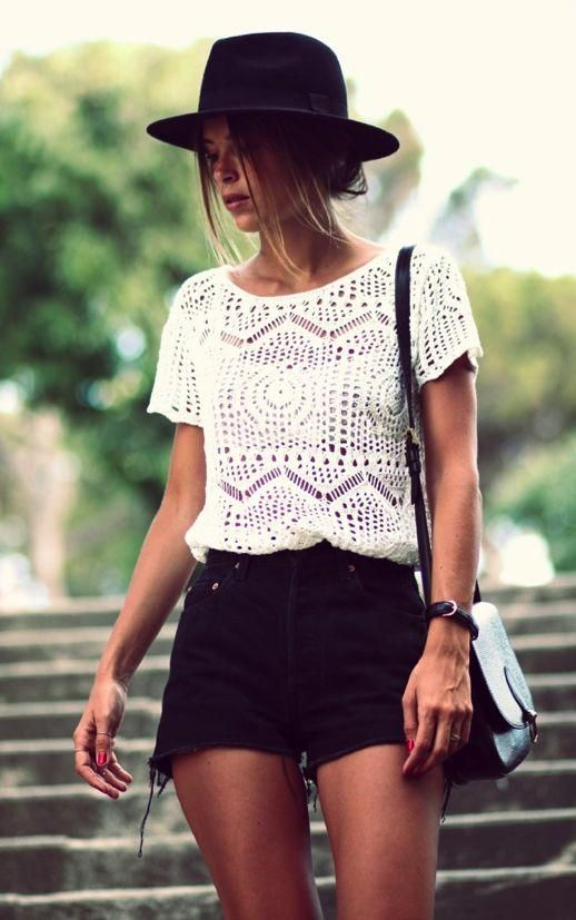 19 Gorgeous Outfit ideas to Style Crochet Clothing - Pretty Desig