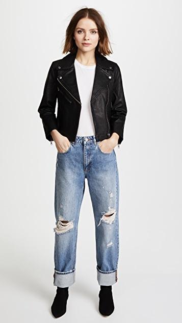 Madewell Cropped Leather Jacket | SHOPB