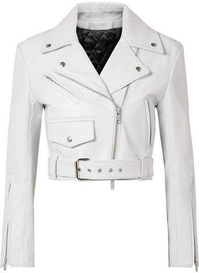 ad #CommissionLink CALVIN KLEIN 205W39NYC - Cropped Leather Biker .