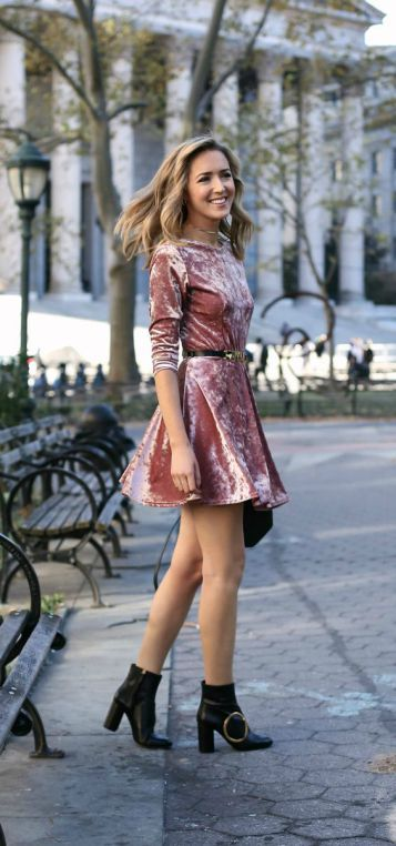 17 Cute Ways To Wear Crushed Velvet | Velvet fashion, Winter dress .