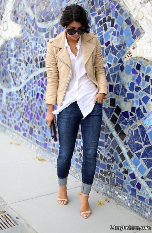 Cuffed Slim Jeans Outfit Ideas 2019-2020 | Cuffed jeans, Cuffed .