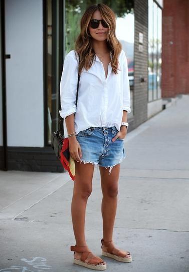 30 Ways to Wear Your Denim Cutoffs All Summer | Summer fashion .