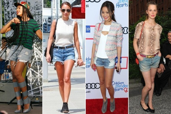 Building a Fabulous Wardrobe 101: Cutoff Jean Shorts - Outfit .