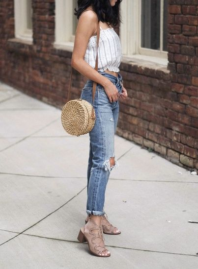 cute summer top outfit | levis 501 jeans summer outfit | how to .