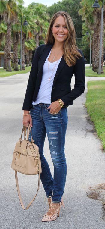 How to Wear Blazers: 15 Outfit Ideas | Dagelijkse mode, Mode .