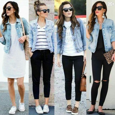 Fashion Outfits Women Jeans Denim Jackets Ideas | How to wear .
