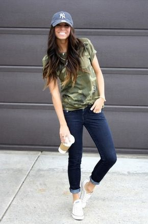 How to Style a Baseball Hat | Womens casual outfits, Outfits with .