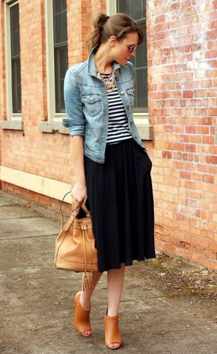 How To Wear Black Skirt Outfit Ideas Denim Jackets 42+ Super Ideas .