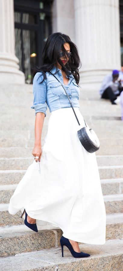 Long Skirts Done Right - Tips and Outfit Ideas | Long skirt .
