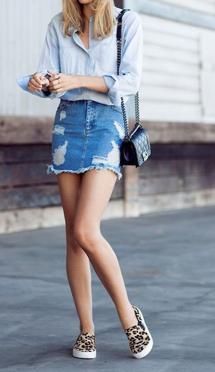 21 Cheap Mini Skirt Outfit Ideas You Must Try | Denim fashion .