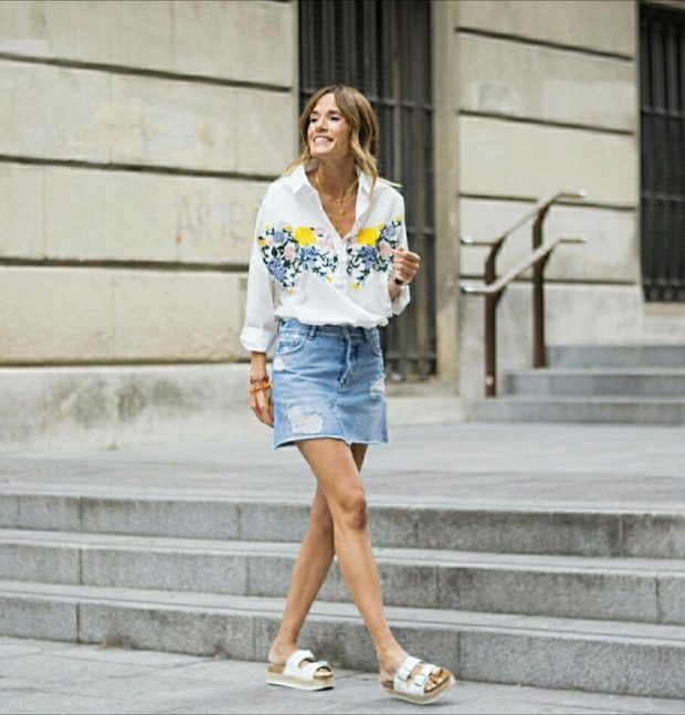 Summer 2017 Fashion Trends: 14 Lovely Denim Mini Skirt Outfit Ide