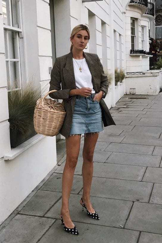 Jean Skirt Outfits: 32 Chic Ways To Wear A Denim Ski