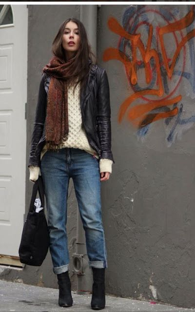 Fall fashion | Casual winter outfits, Boyfriend jeans, Jeans .